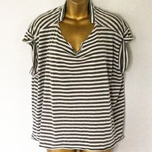 all saints striped t shirt size large